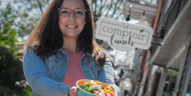 Le comptoir lunch centre-ville de Drummondville, notre spécialité les salades