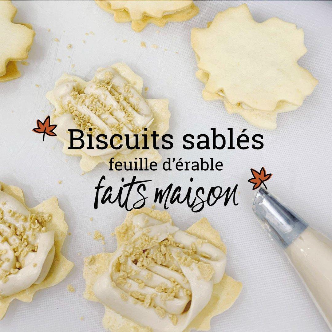 Biscuits sablés à l'érable faits maison